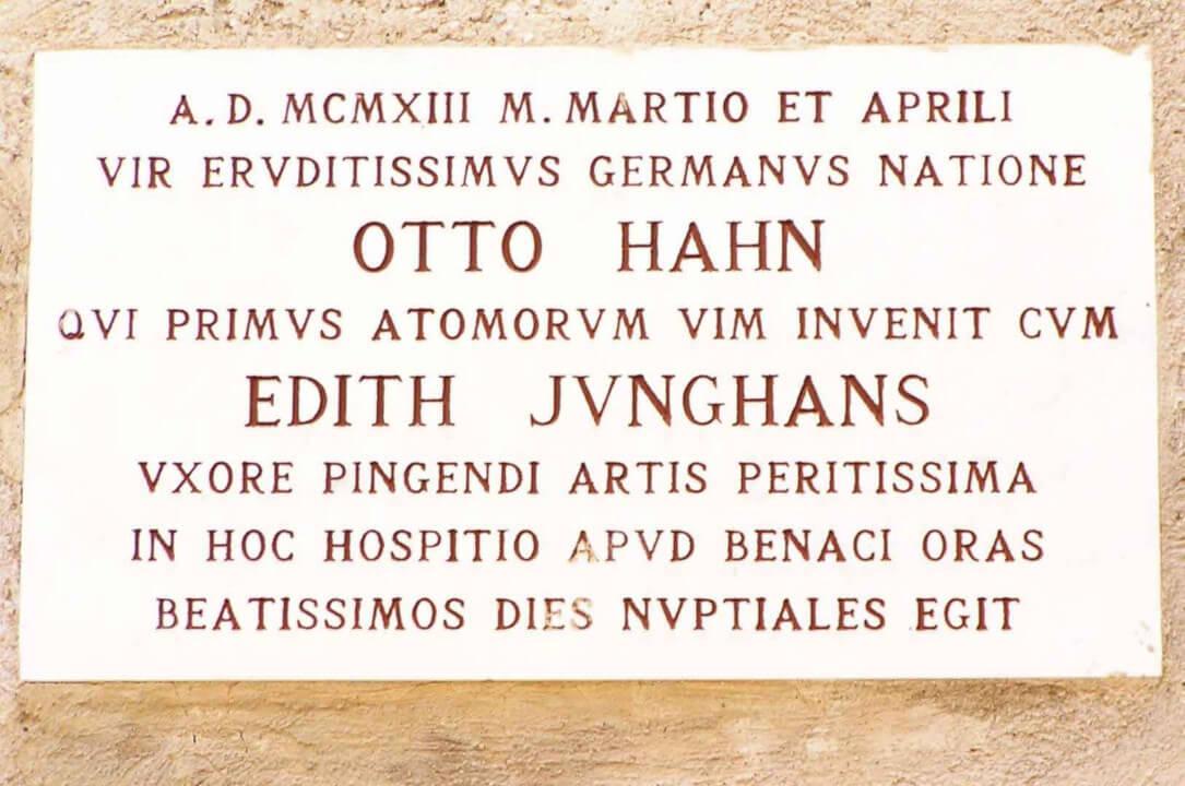 PUNTA SAN VIGILIO - OTTO HAHN (Nobel per la chimica nel 1944) E LA MOGLIE EDITH JUNGHANS (artista)
