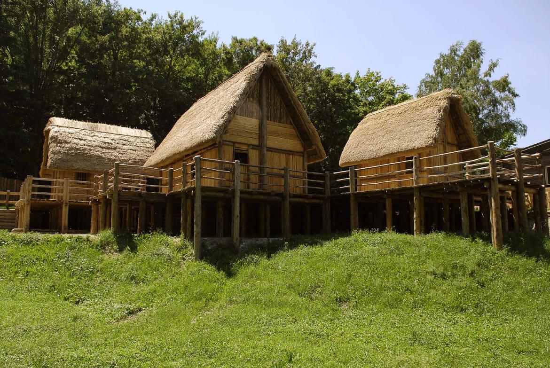 las aldeas prealpinas sobre pilotes